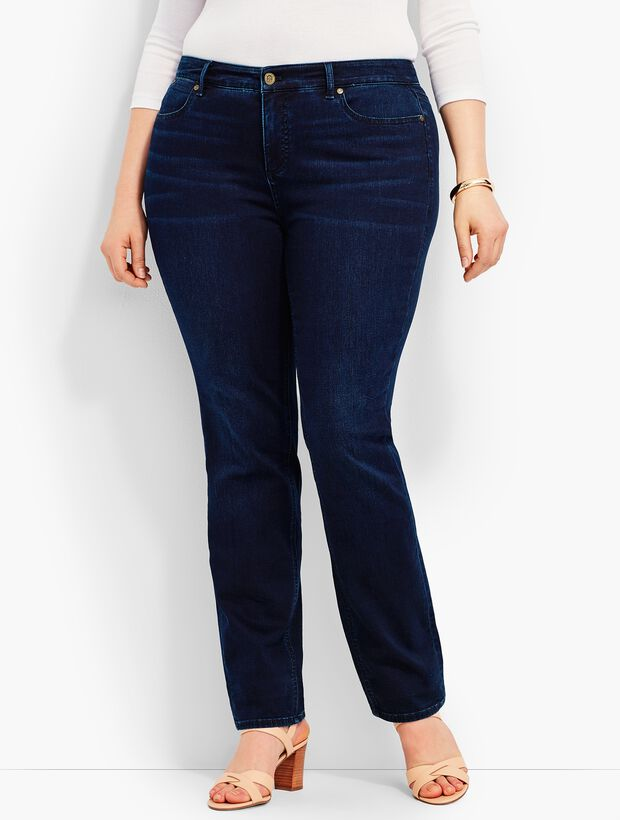 Plus Size Exclusive Comfort Stretch Denim Straight-Leg Jeans - Biscay Wash
