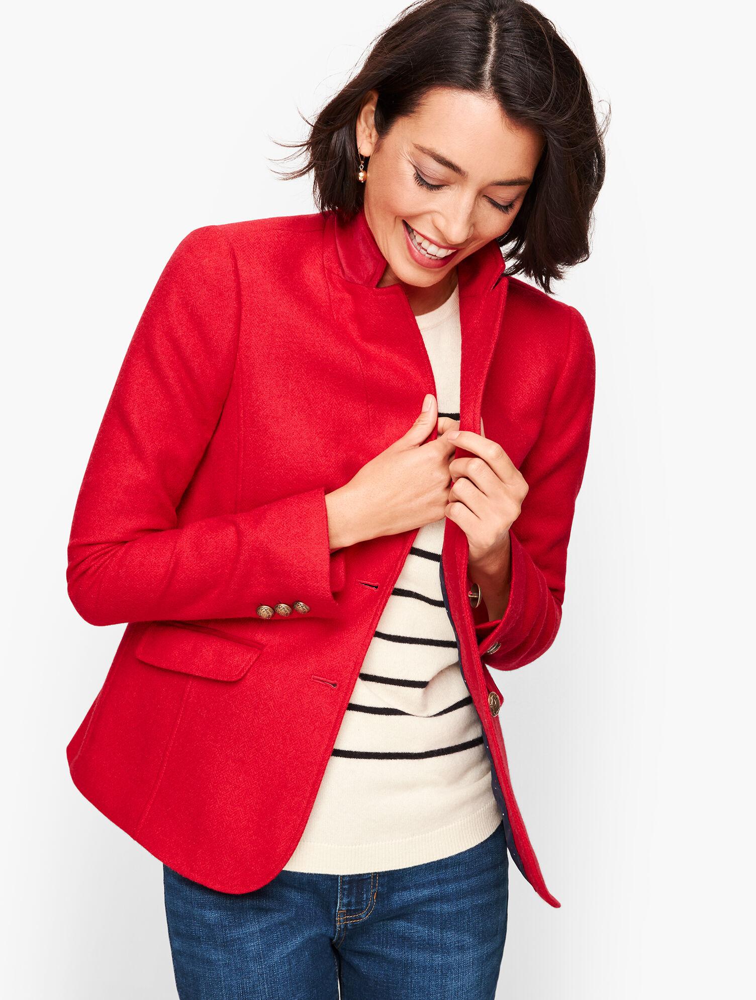 Red Wool Blazer