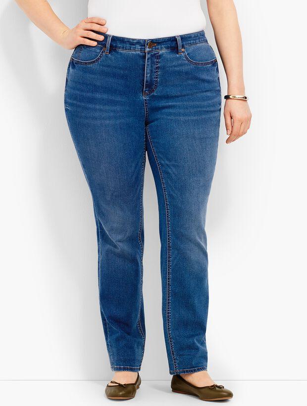 Plus Size Exclusive Comfort Stretch Denim Straight-Leg Jeans - Dawson Wash