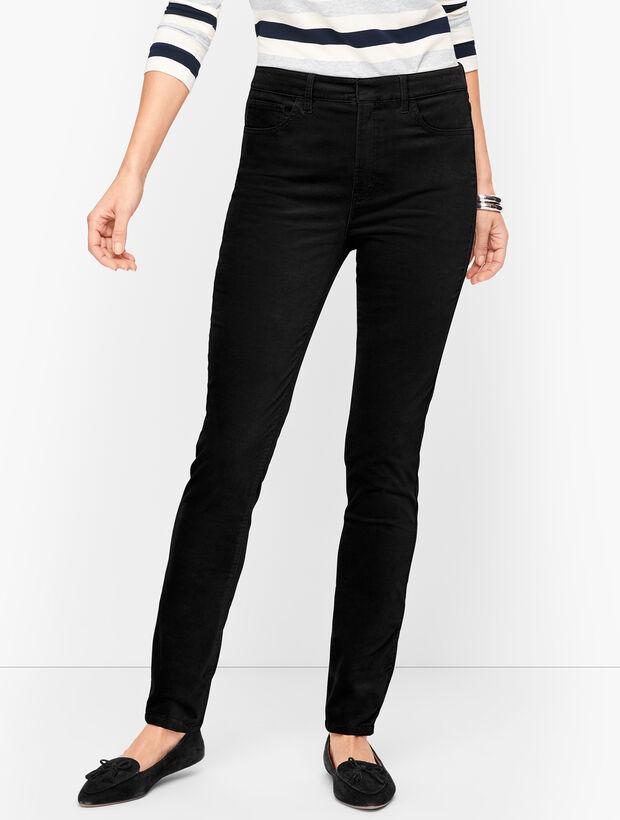Stretch Velveteen Slim Leg Pants