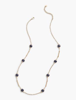 Indigo Bead Layering Necklace