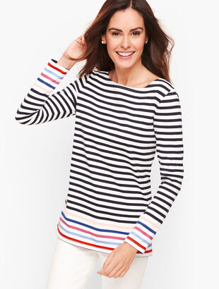 Authentic Talbots Tee - Harbor Stripe