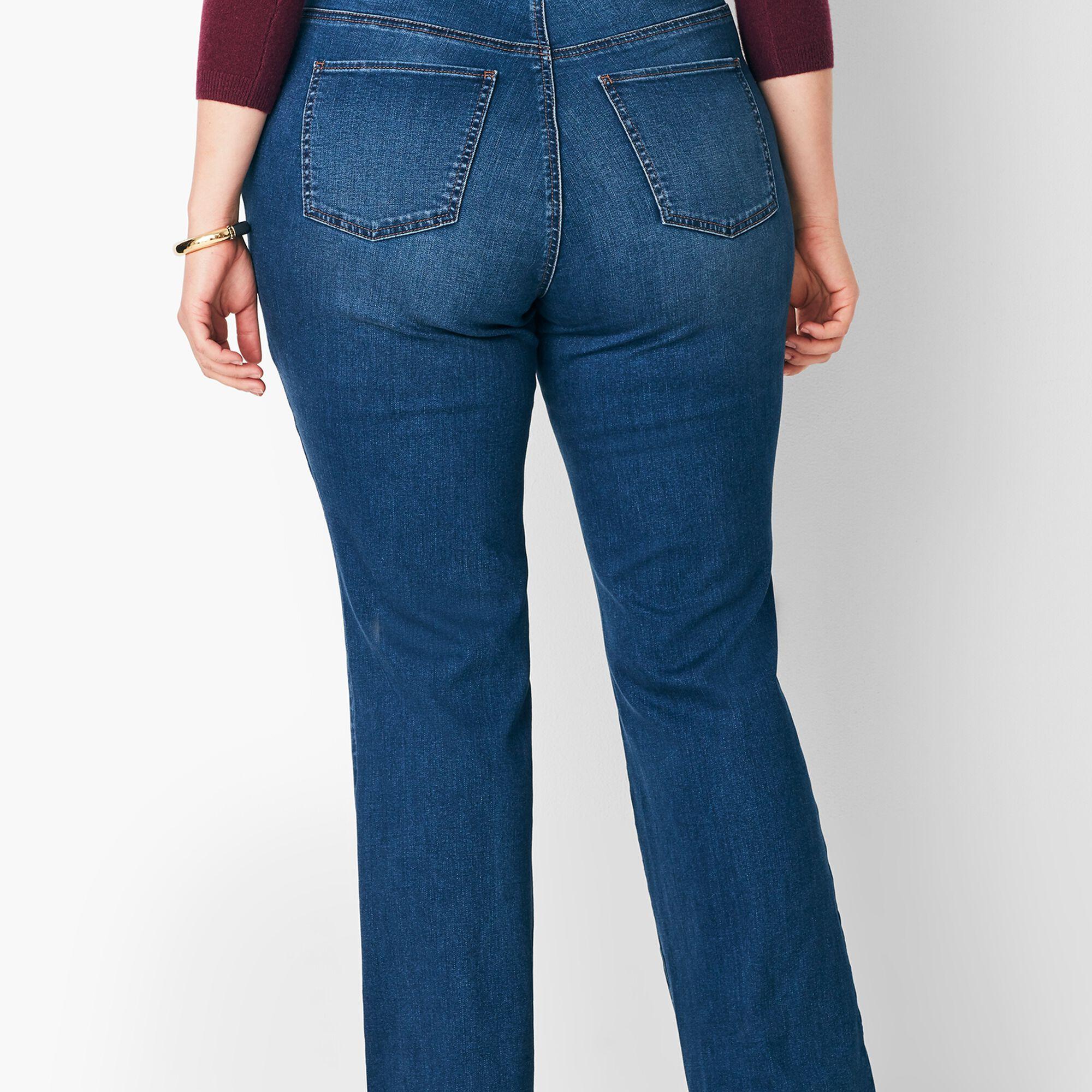 823a6b2da09 Plus Size High-Waist Barely Boot Jeans - Nestor Wash/Curvy Fit