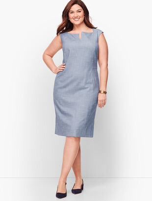 Sharkskin Sheath Dress