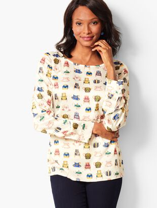 Long-Sleeve Novelty Top