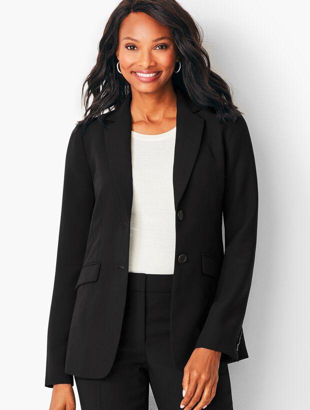 Seasonless Crepe Two- Button  Jacket