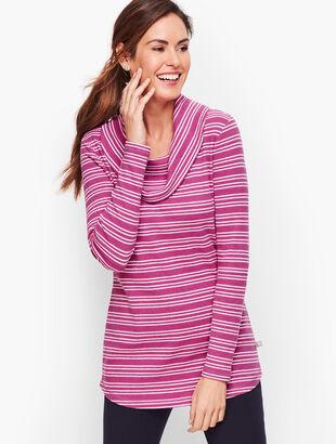 Cowlneck Stripe Tunic