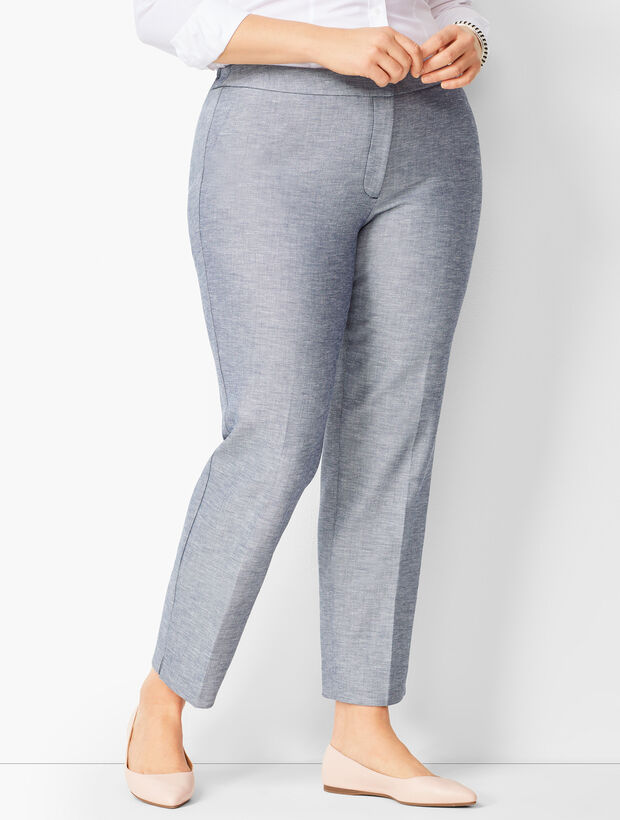 Plus Size Talbots Hampshire Ankle Pants - Sharkskin