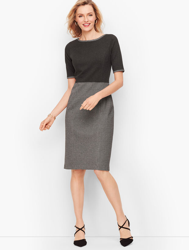 Luxe Knit Colorblocked Sheath Dress