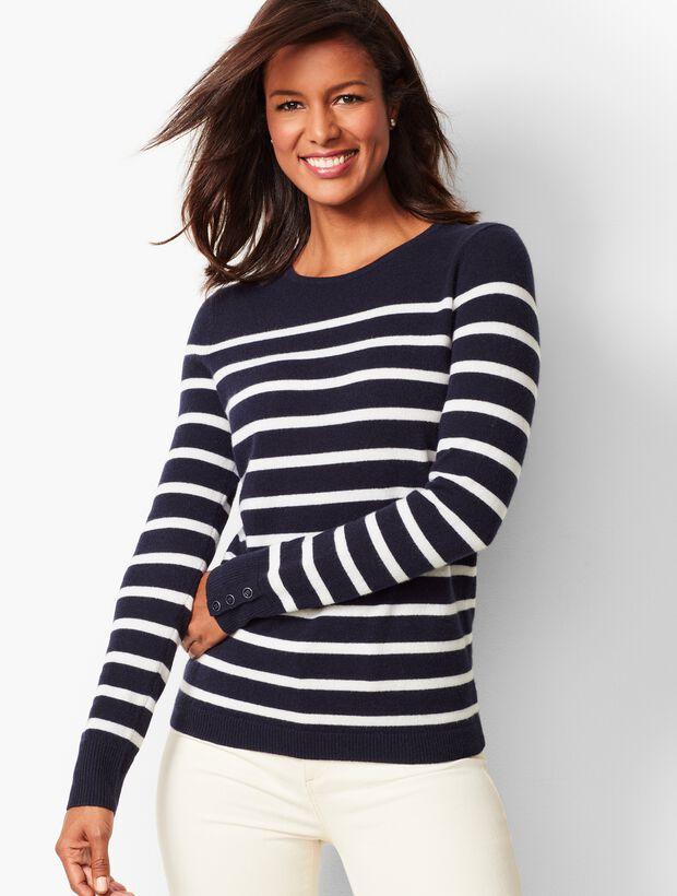 Cashmere Crewneck Sweater - Stripe