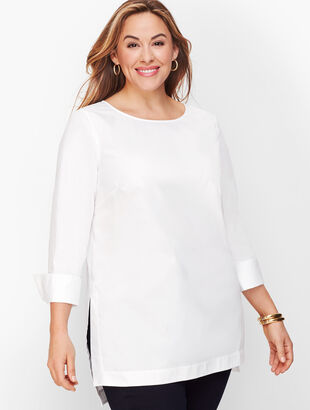 Poplin High Low Tunic