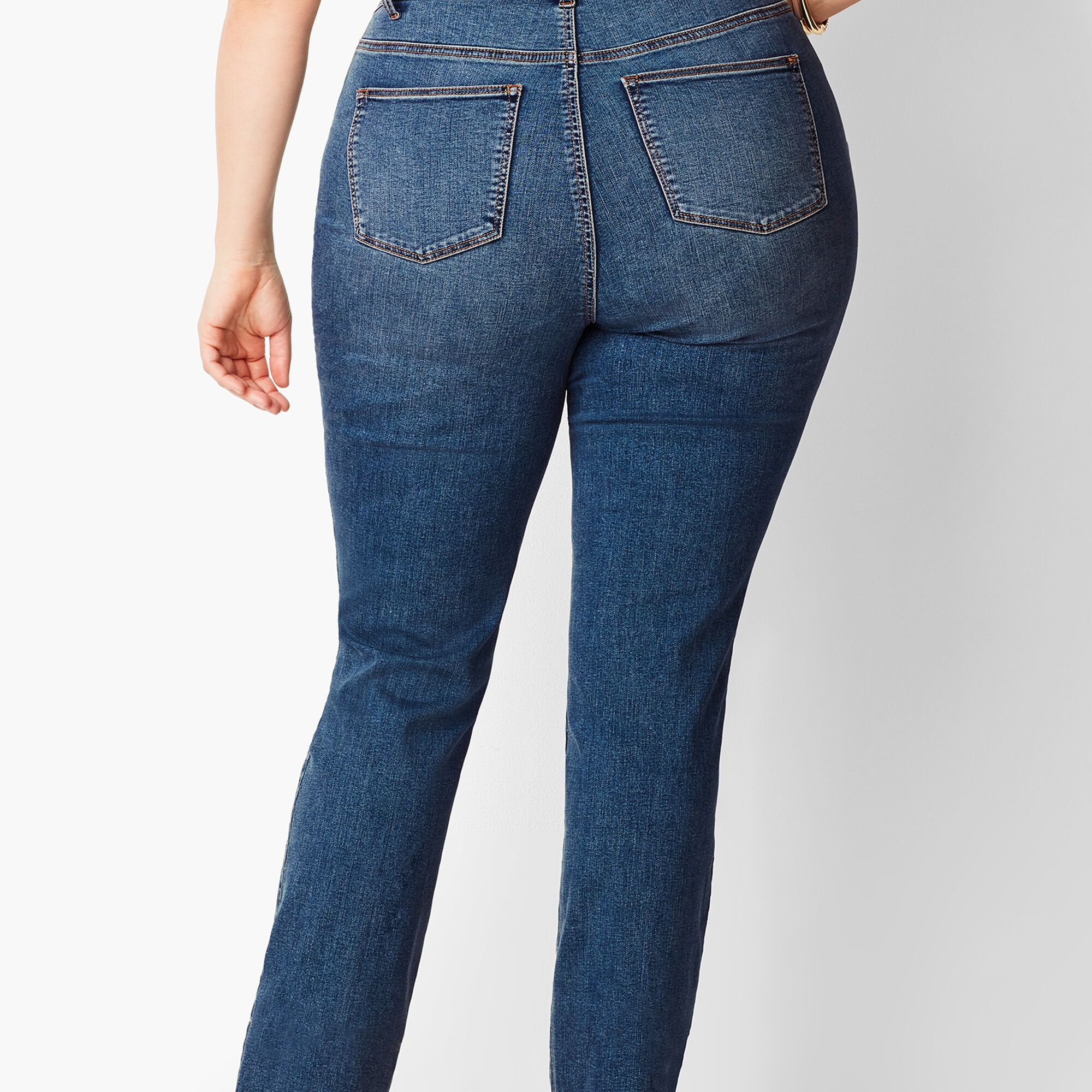 57ec2c91e4c Plus Size Exclusive High-Rise Straight-Leg Jeans - Curvy Fit Baxter Wash