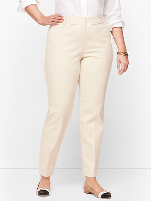 Plus Size Talbots Hampshire Ankle Pants - Double Weave - Traditional Hem