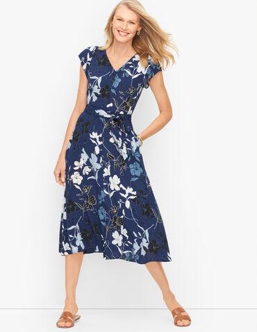 Midi Dress - Graphic Floral