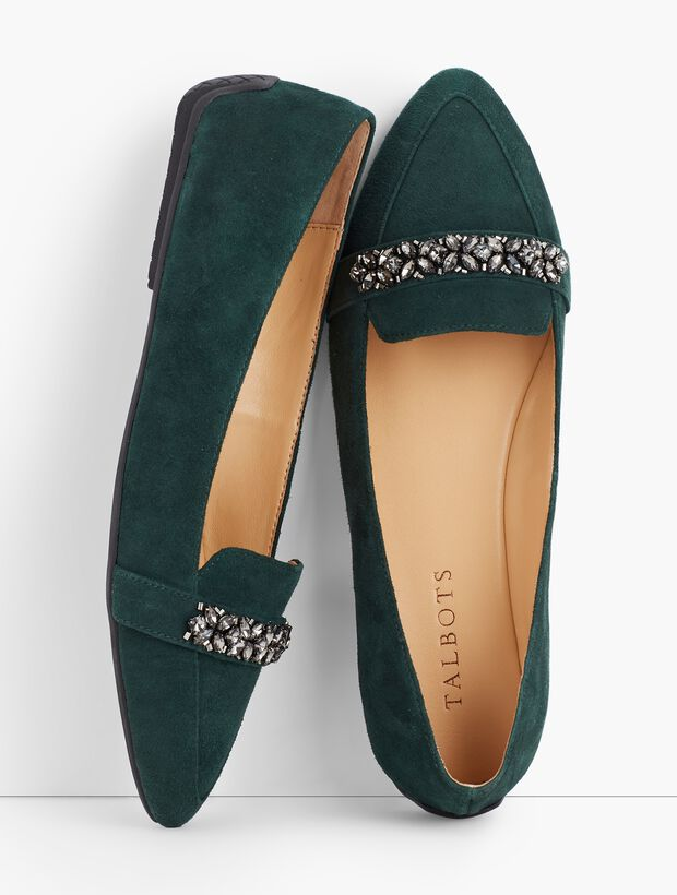 Francesca Jeweled Driving Flats
