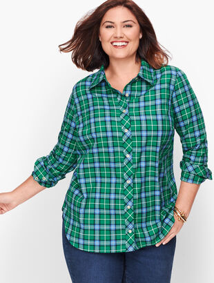Classic Flannel Shirt - Juniper Ivy Plaid