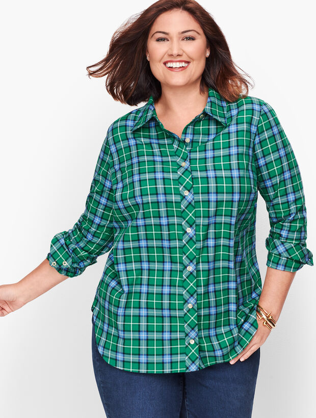 Classic Flannel Shirt - Juniper Ivy Plaid