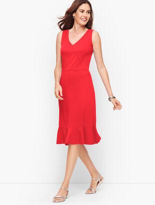 Flounce Hem Fit & Flare Dress