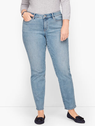 Slim Ankle Jeans - Diamond Dot