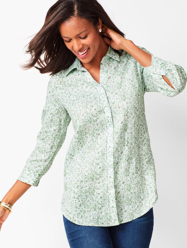 5c454b0abe Button-Back Linen Tunic - Batik Floral