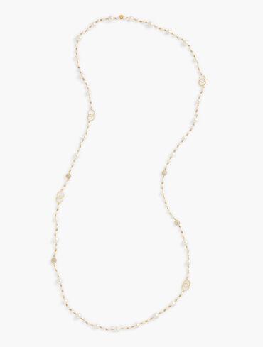 Festive Pearl Long Necklace