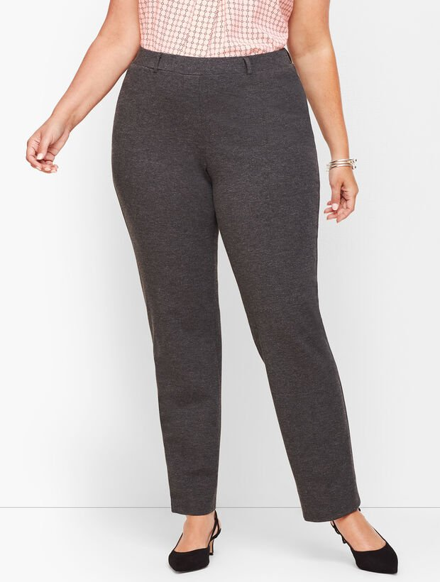 Plus Size Refined Ponte Straight Leg Pants