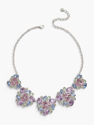 Pastel Jeweled Statement Necklace