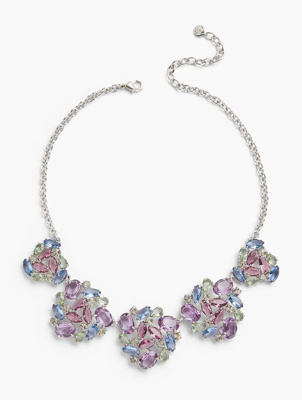 Pastel Jeweled Statement Necklace