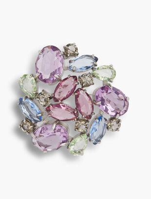 Pastel Jeweled Brooch