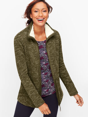 Sherpa Collar Textured Jacket