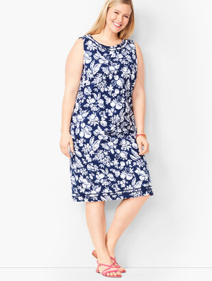 Mixed Fruit Textured Shift Dress