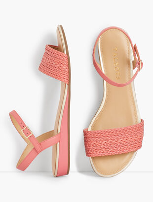 Daisy Micro-Wedge Sandals - Braided Solid