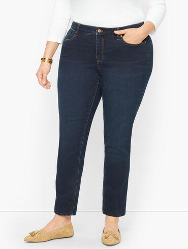Plus Size Exclusive Slim Ankle Jeans - Meteor Wash