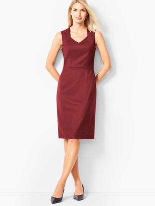 Luxe Italian Flannel Sheath Dress
