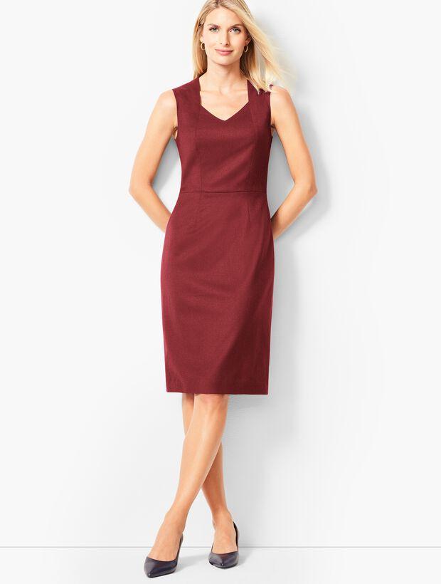 5b1de2e1d0 Images. Luxe Italian Flannel Sheath Dress