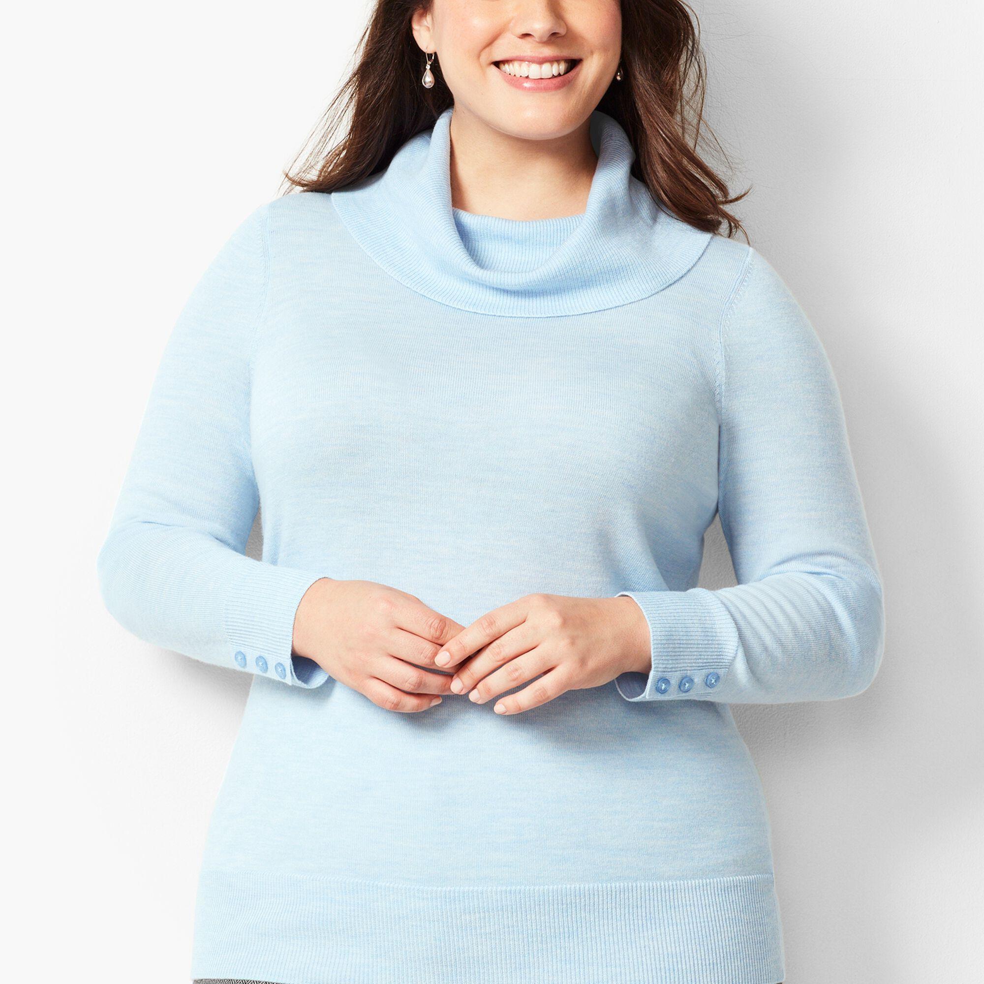 4698f40c8 Merino Button-Cuff Cowlneck Sweater