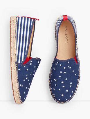 Izzy Espadrille Flats - Stars & Stripes