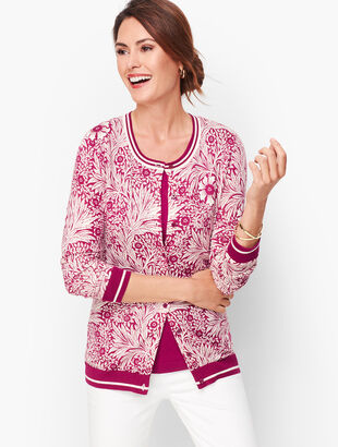 Charming Cardigan -Leafy Vines