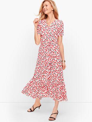 Cascade Wrap Dress - Floral