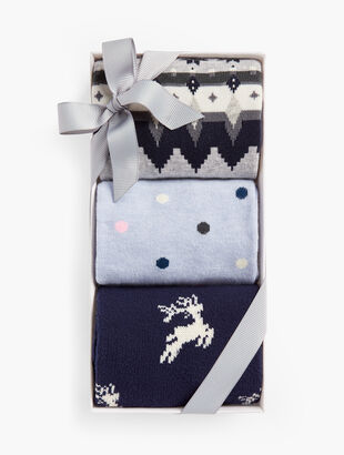 Lounge Deer 3-Pack Socks