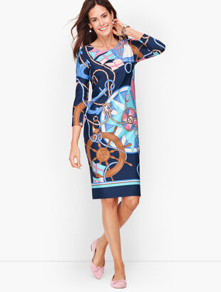 Status Print Jersey Shift Dress
