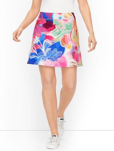 Watercolor Floral Skort