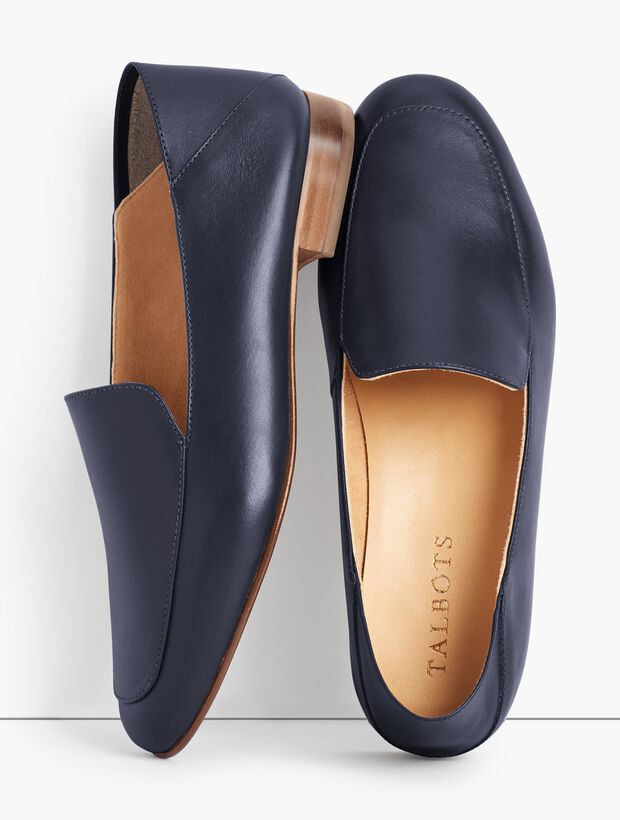 Cassidy Leather Collapsible Flats - Napa