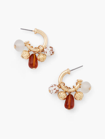 Wild Cluster Hoop Earrings