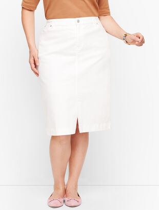 Denim Skirt - White