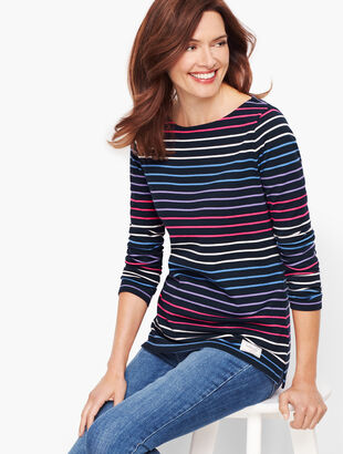 Authentic Talbots Tee - Frosty Stripe