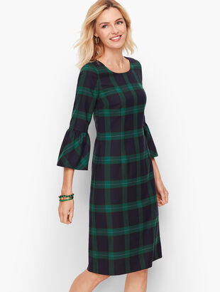Black Watch Plaid Shift Dress