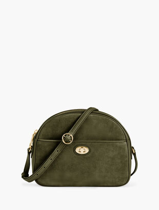 Half Moon Leather Bag - Suede