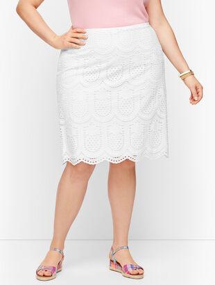 Eyelet Pineapple A-Line Skirt