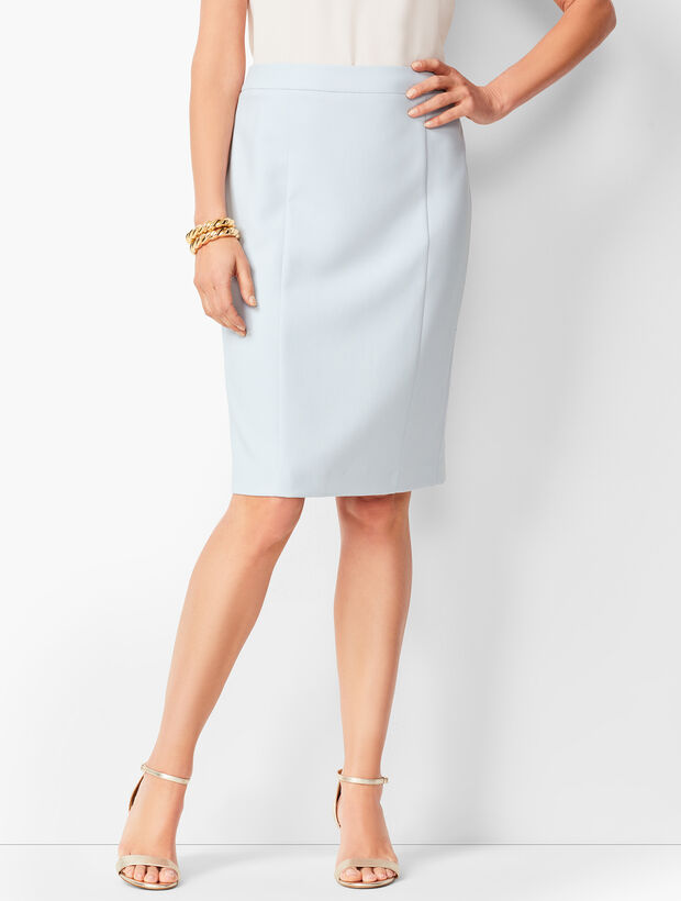 Italian Luxe Double-Cloth Pencil Skirt